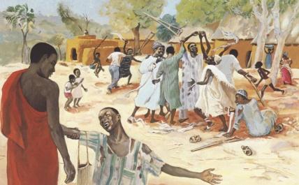 Jesus_Mafa_Healing_of_Leper